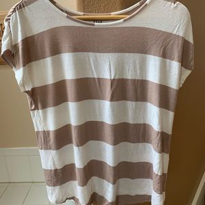 Ana striped open back shirt